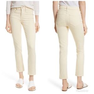 Vince Cropped Skinny Ankle Jeans in Khaki Cotton